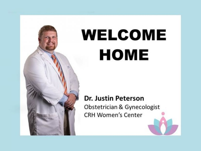 Dr. Peterson joins Dr. CRMC at the CRH Women's Center.