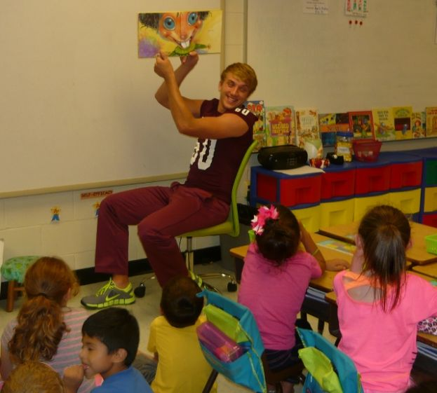 Trojans visit West Green Elementary