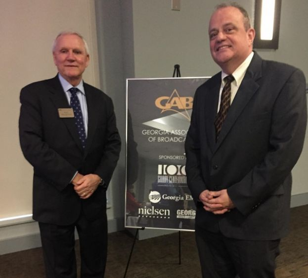Bob Houghton, (l),President of the Georgia Association of Broadcasters and Broadcast South CEO John Higgs.