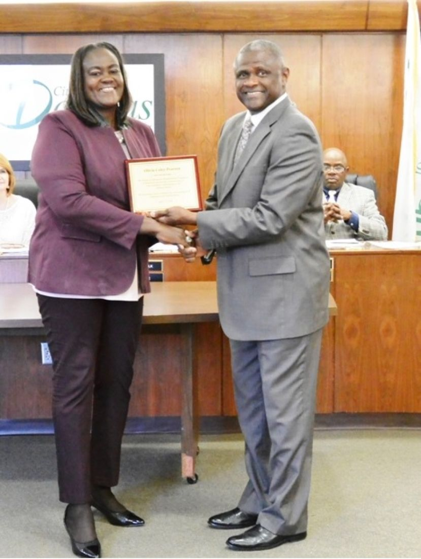 Commissioner Olivia Pearson was recognized by the Mayor as an Al Cole 2018 Unsung Hero People of Distinction Award Honoree.