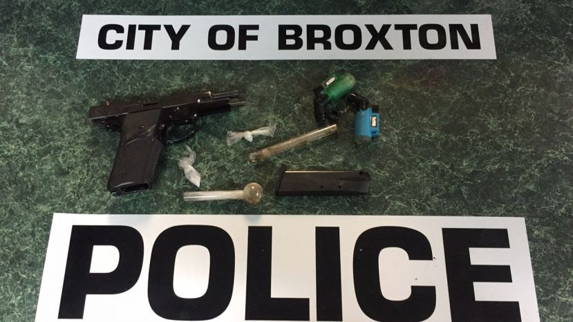 Here are few of the items of contraband Broxton police officers confiscated over the last week.