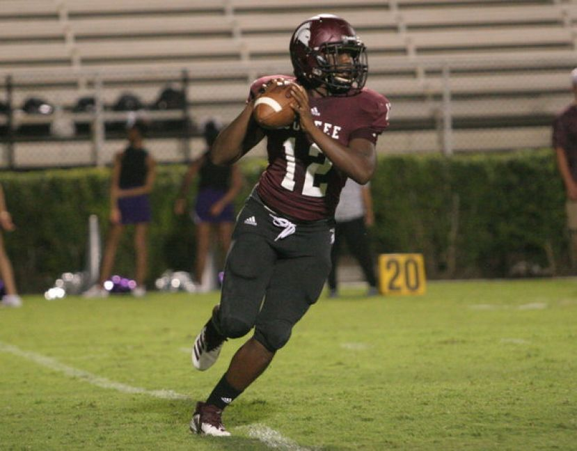 Quarterback A.J. Wilkerson rushed for two touchdowns and threw for one more against the Miller Grove Wolverines Friday night.
