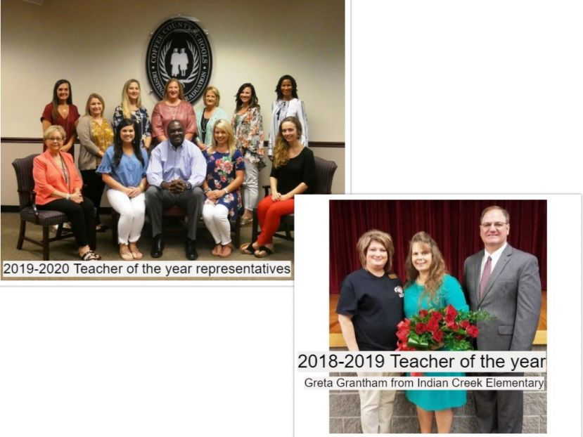 Coffee County Announces Teacher of the Year Representatives and Teacher of the Year