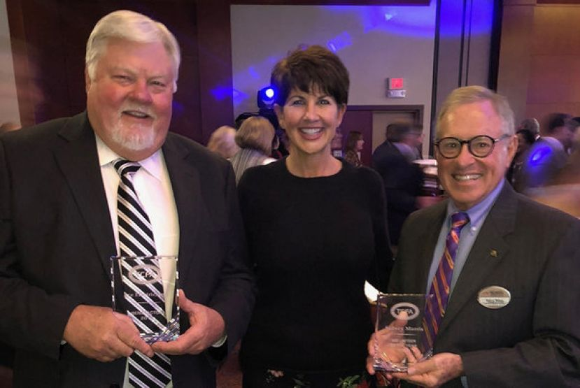 Wiregrass Georgia Technical College President Dr. Tina K. Anderson is pictured with Bobby Stalvey, President of Ace Electric (TCSG Benefactor of the Year) and Sidney Morris, Wiregrass Foundation South Trustee (TCSG Volunteer of the Year)