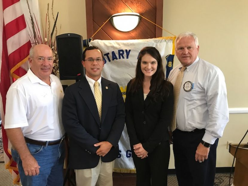 From left: Brian McNeill, Rotary president; Agent Jason Nipper; Agent Kellyn Wilkes; and Steve Bailey, Douglas Rotary Club.