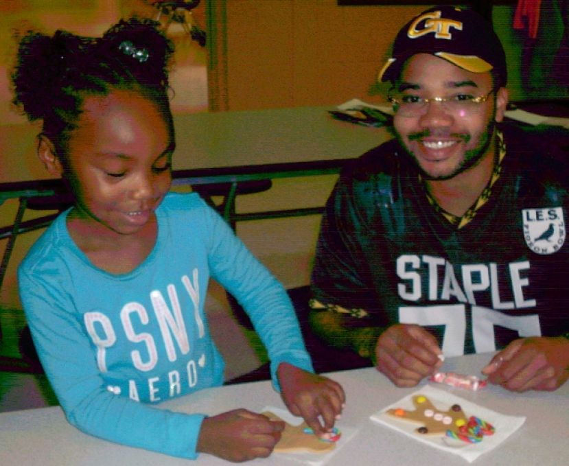 Pre-K students have gingerbread fun at Eastside Elementary