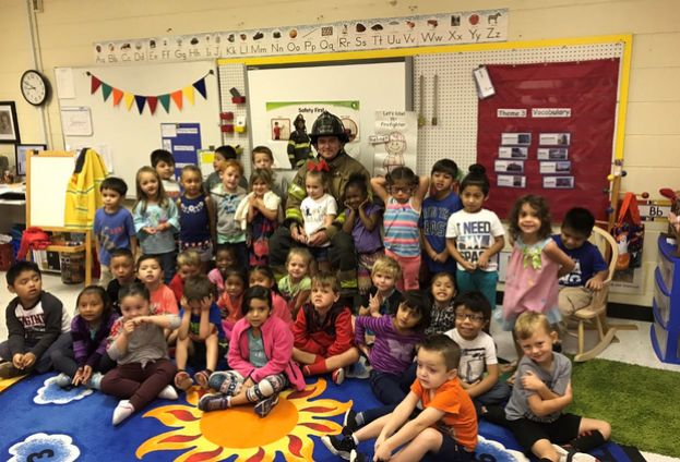 Firefighters visit West Green Pre-K