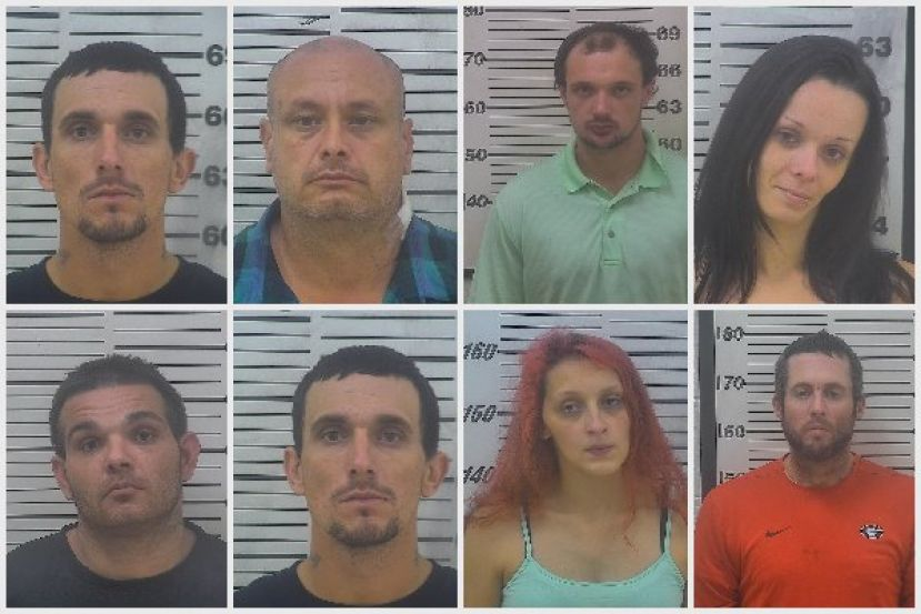Top row from left: Jonathon Paul Harper, Billy Dajoel Graham, Justin Roy Williams and Jessica Nettles. Bottom row from left: Timothy Thomas, Jonathon Paul Harper, Marina Harper and James Kirk Solomon,