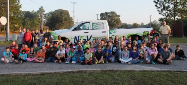City gas director educates children on natural gas as an alternative fuel