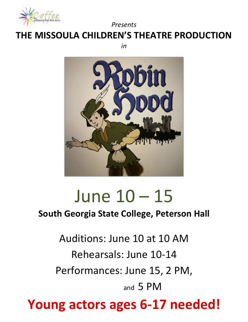 Missoula Children's Theatre Production in Robin Hood