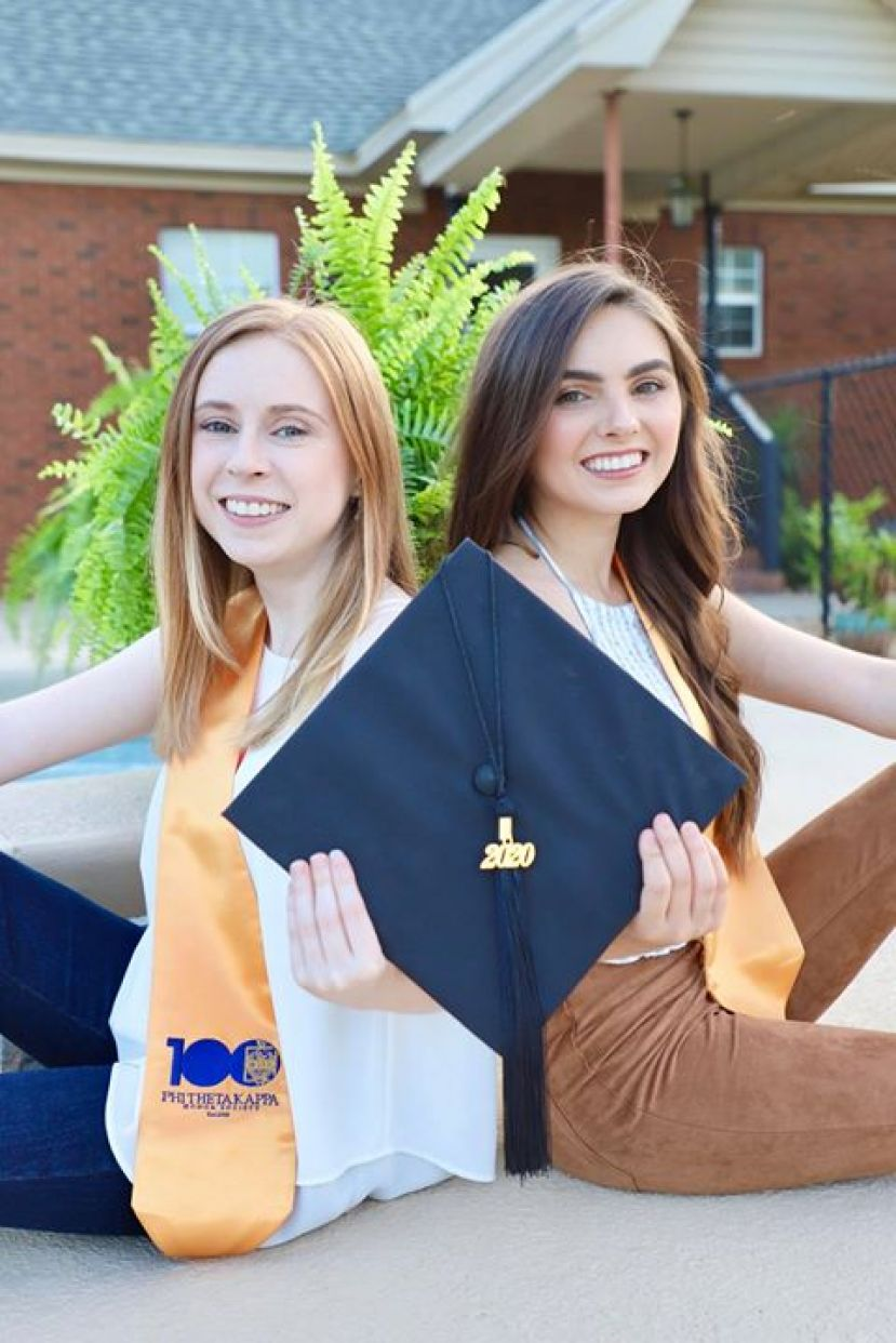 Sisters Alana Atkinson and Leana Atkinson of Broxton, Ga., each earned dual associate degrees with honors in 2020 to be part of the record number of degrees awarded at SGSC.
