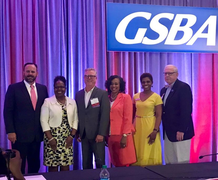 Bryan Preston (third from left) has been named GSBA vice president.