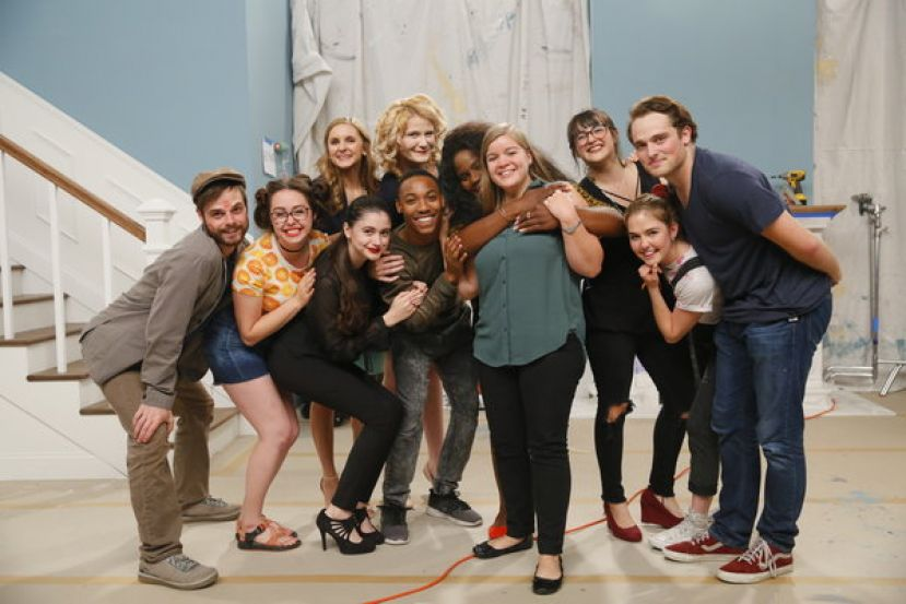Anna Braswell, seen in the center, is shown with the cast of 'Nailed It,' the show she wrote while at the Savannah College of Art and Design that ultimately led her to MGM in Los Angeles.