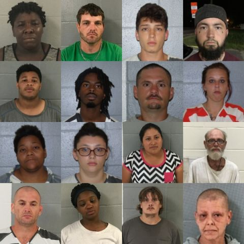 Alma PD announce last week's arrests, charges ranging from indecent exposure to drug possession