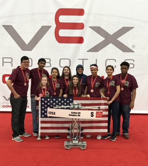 Coffee High robotics team finishes among the best at world championships