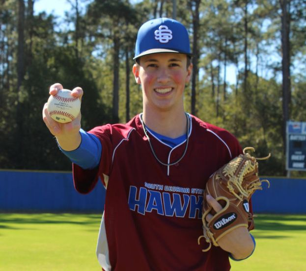 Jacob Fletcher of Etowah, Ga., was the winning pitcher for game one against Morton College.