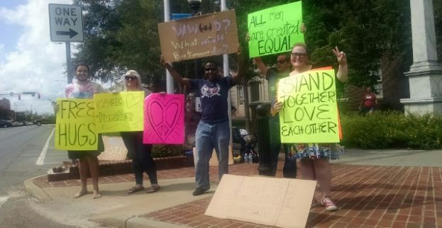 Locals rally for love and unity