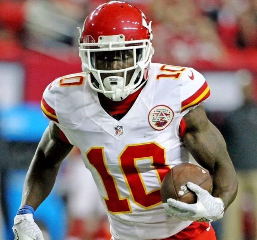 Tyreek Hill scored two touchdowns in the Kansas City Chiefs 35-24 win over the Tennessee Titans in the AFC Championship game Sunday.