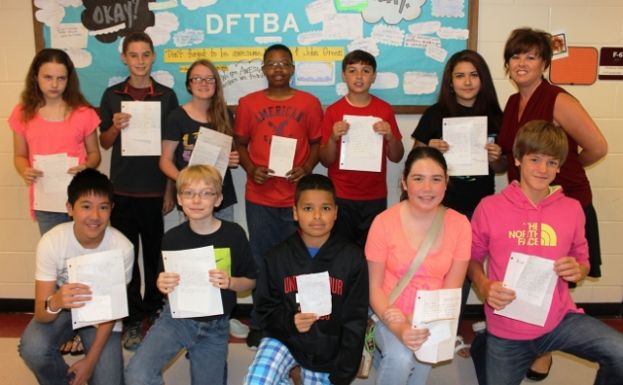 Coffee Middle School students write soldiers for Memorial Day