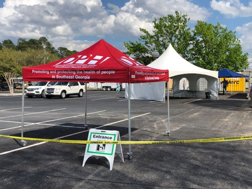 The Southeast Health District, in conjunction with the Georgia Department of Public Health, has opened a COVID-19 testing center in the parking lot of Coffee Regional Medical Center. The site is not open to the public and will only test individuals who have been referred to the center.