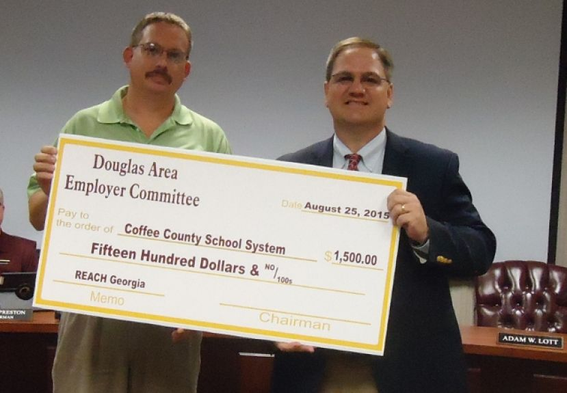 Douglas Area Employer Committee donates $1,500 for REACH Georgia