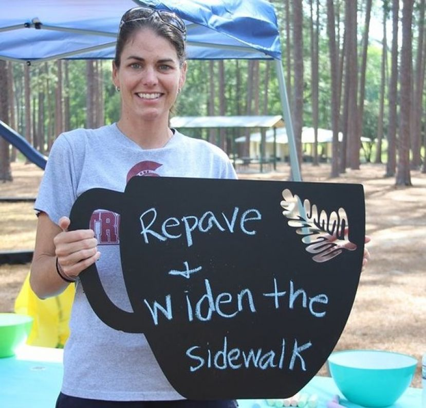 Lindsay Day, a member of the Community Foundation, is one of many involved in the Wheeler Park revitalization project.