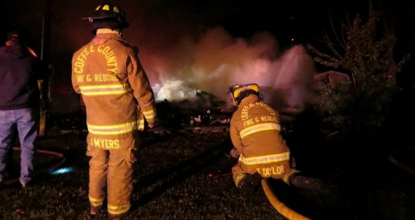 County, city fire departments work together to fight weekend blaze