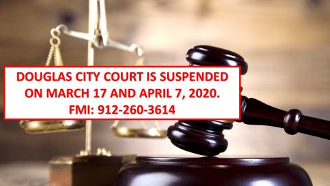 City Court suspended for March 17, April 7