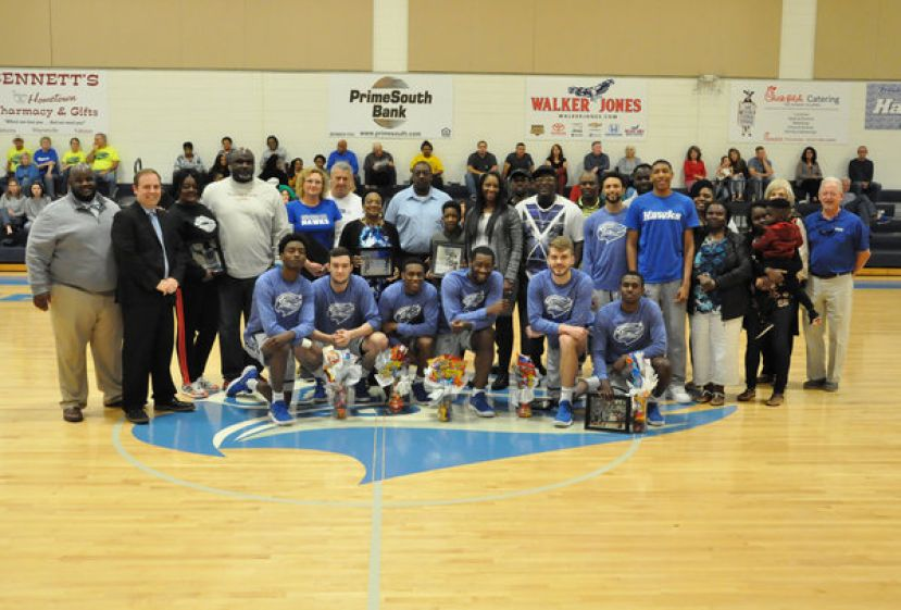 SGSC's men's basketball program honored its sophomores and their families Saturday afternoon prior to the regular season finale against Gordon State.