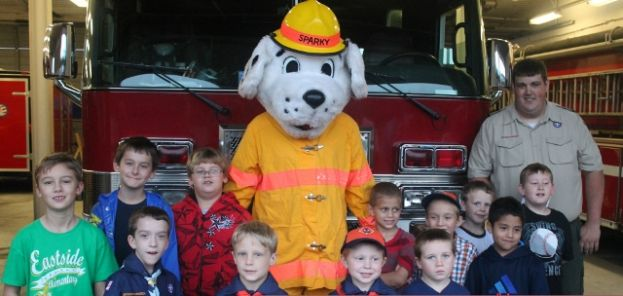Local Cub Scouts wowed by Douglas firefighters