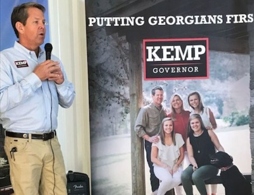 Republican candidate for governor Brian Kemp defeated Democrat Stacey Abrams easily in Coffee County Tuesday night.