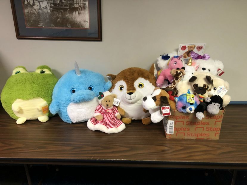 Here are a few of the stuffed animals 4-H'ers collected for the K-Bears project.