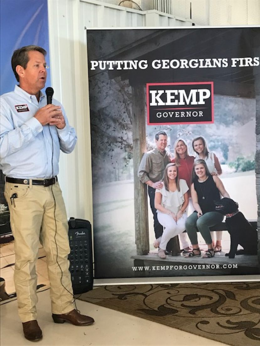 Republican candidate for governor Brian Kemp