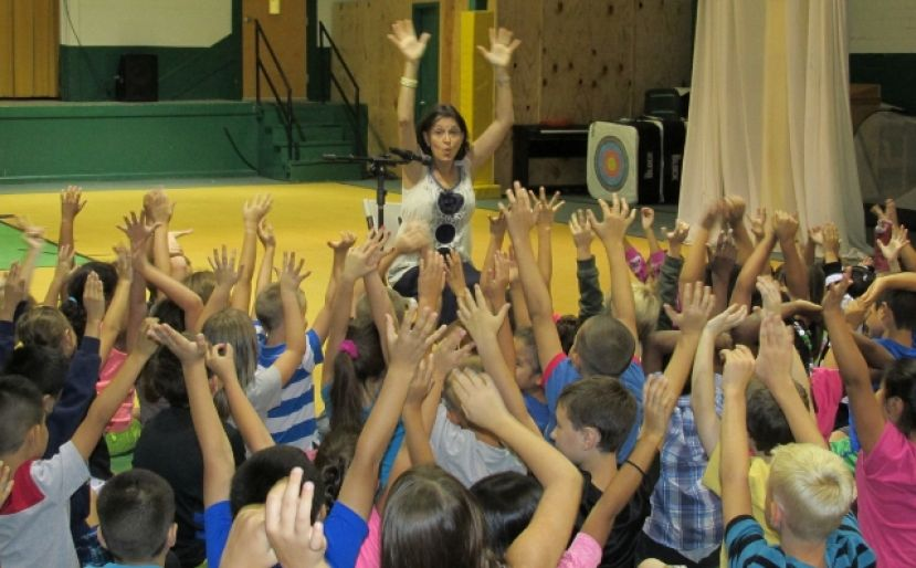 West Green students captivated by author's visit