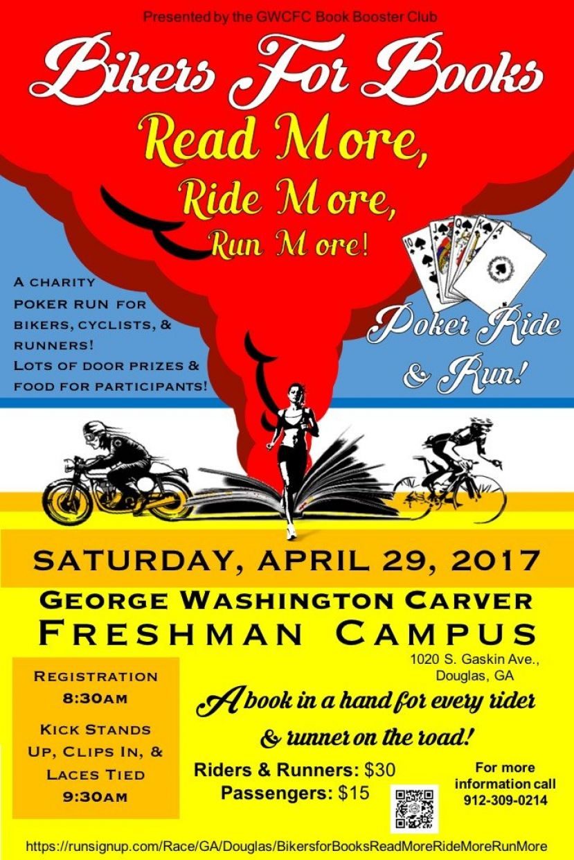 Bikers for Books event for motorcyclists, runners, and bicyclists slated for April 29