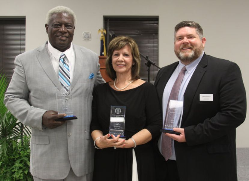 (L to R) Mr. Oscar Street, Ms. Sherry Thomas, and Mr. Luke Christian