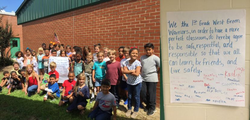 West Green first grade celebrates the Constitution