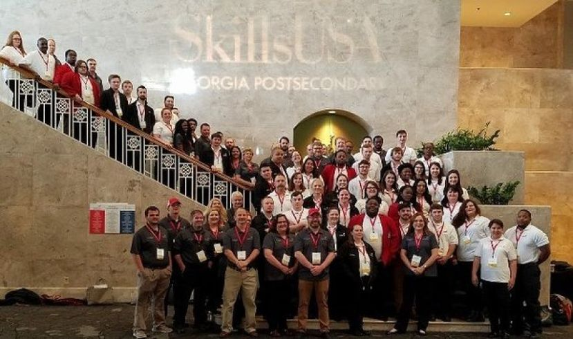 "Wiregrass Georgia Technical College's SkillsUSA Chapter.  The Chapter was named among the top 24 SkillsUSA chapters nationally as a ""Model of Excellence"" recipient."
