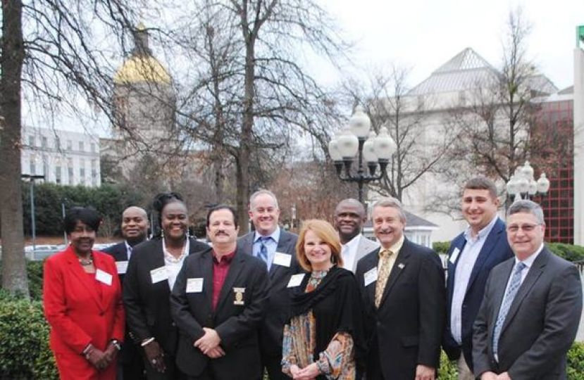 L-R: Mayor Darquitta Riley, Stevie Young (Parks & Recreation Director), City Commissioner Olivia Pearson, Gary Casteloes (Douglas Police Chief), Wesley Vickers (County Administrator), Commissioner Cindy McNeill, Mayor Tony L. Paulk, County Commissioner Jimmy Kitchens, County Commissioner A.J. Dovers, and Barry Bloom (CRMC VP/Executive Director Foundation)