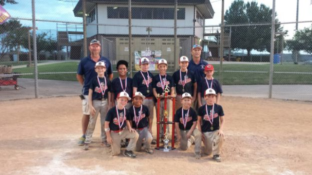 Pictured on the back row from left are: Levi Bennett, Avery Crosby, Brant Sain, Casey Currier, Davis Byrnes, and Austin Strickland. On the front row from left are: Jack Lockhart, Dyllan Ramirez, Hunter Hayes, Jackson Curles, and coaches Brad Bennett and Brandon Hayes. Not pictured are Colson Stewart, Cubbie Crosson, and Coach Chris Stewart.