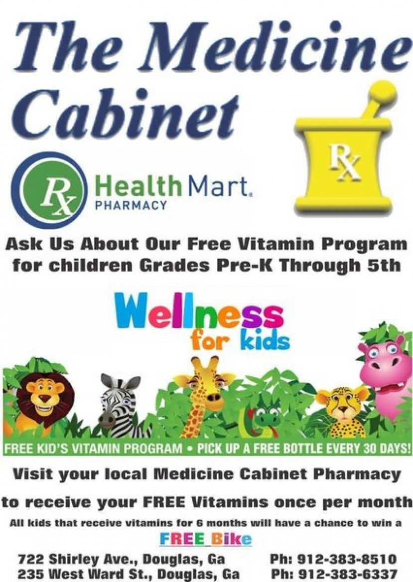 The Medicine Cabinet offers free kid's vitamin program