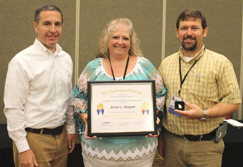 (L-R): Dan Lassester, CVIOG Program Administrator; Kristi Morgan, and Ryan Sarks, President of GLGPA.