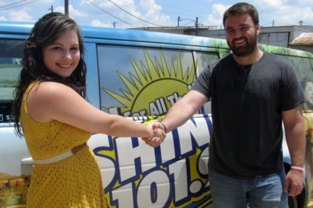 "Ryan ""The Man"" Hannah passes the torch to Ashleyn Adams as the new voice of the Shine 101.9 morning show."