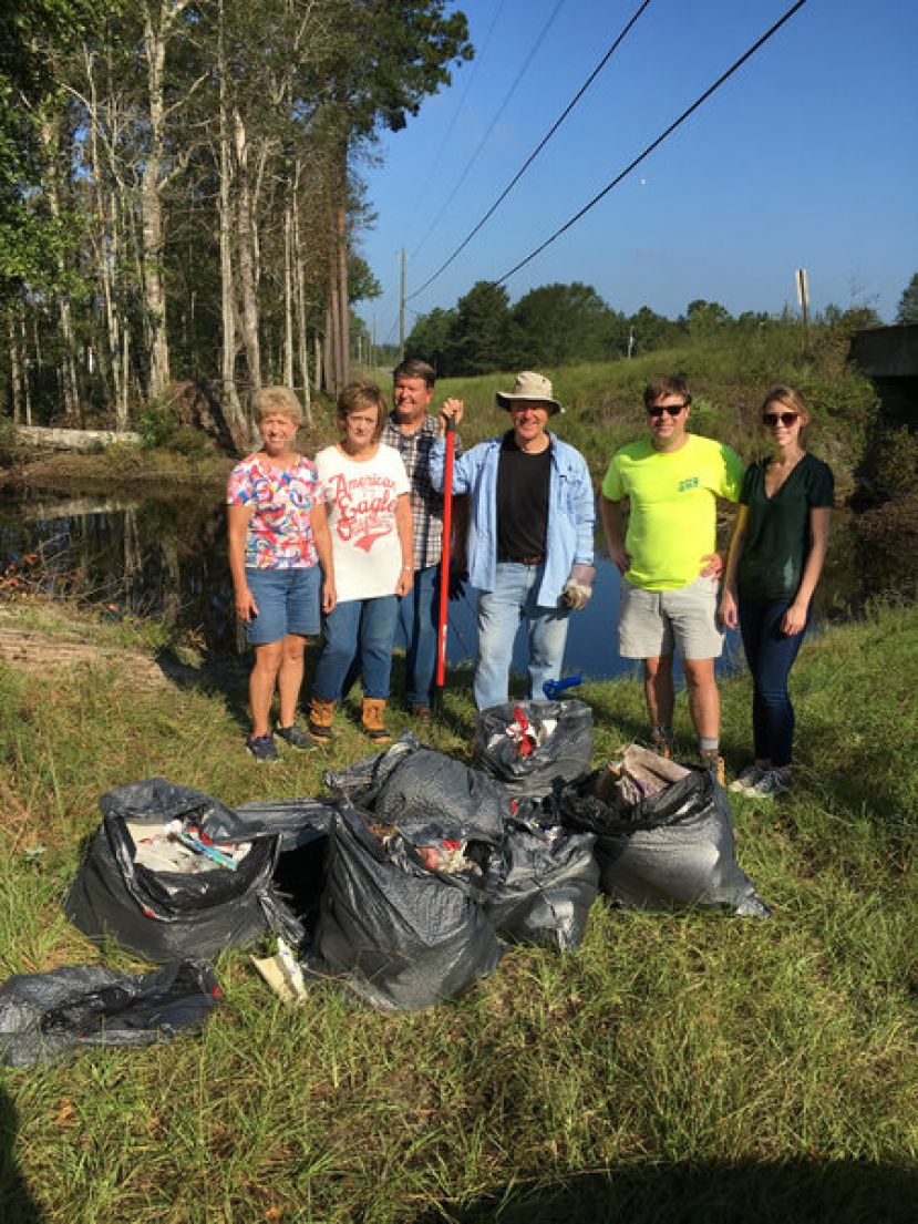 Volunteers from Coffee to Glynn counties cleanup the Satilla River