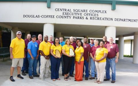 Douglas Coffee County Parks & Recreation Department chosen as the GRPA's District 2 Agency of the year