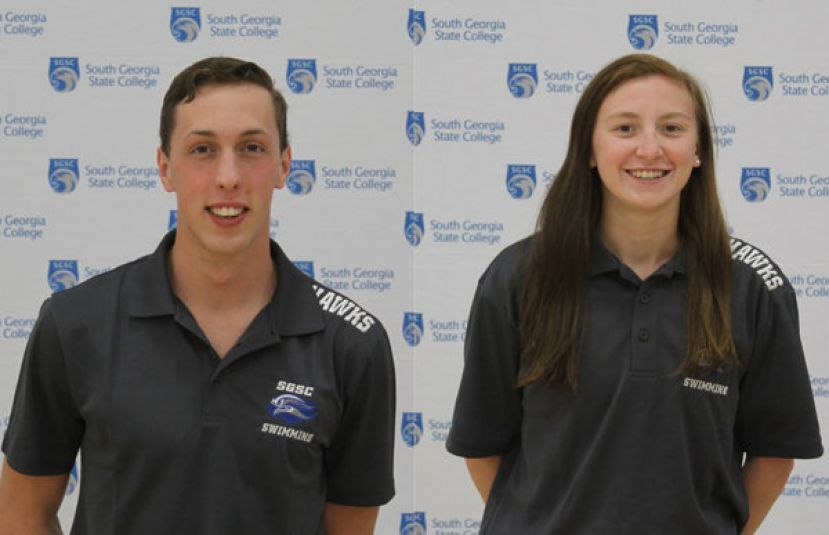 SGSC's sophomores Zac Elz from Suwanee, Ga., and Brittany Herndon from Villa Rica, Ga., finish with impressive showings at the Emanuel College meet.