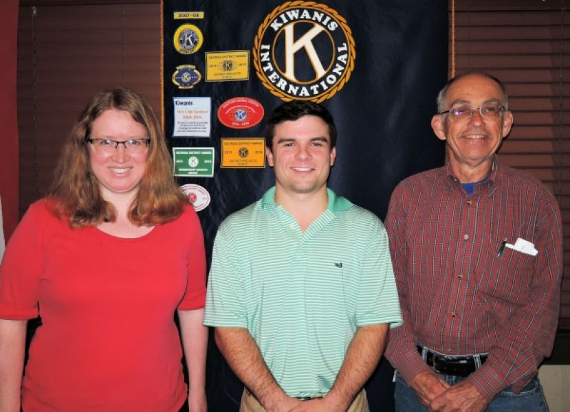 (L-R): Julie Macomber Vickers (President), Jacob Moore and Risk Reed