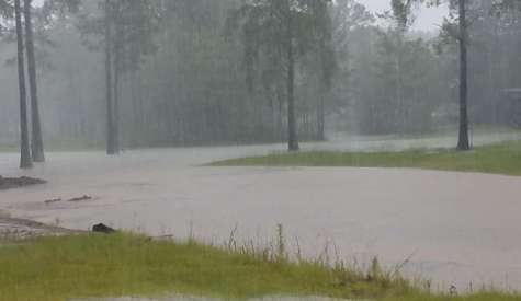 Coffee County has received over five inches of rain and it's still falling