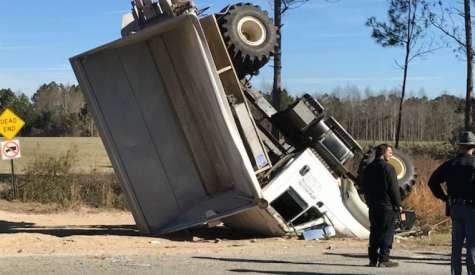 Video: Fertilizer truck crashes on Highway 32 West