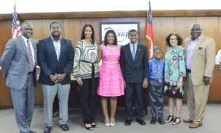 Sharnae Pegues recognized by mayor and city commission